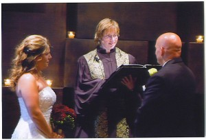 Shelley Dugan officiating a wedding, Beloved Life